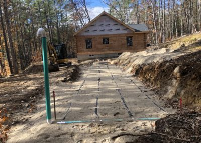 Septic project in New Boston, NH