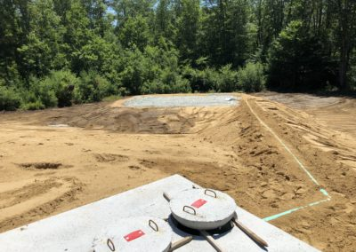 Septic project in Barrington, NH